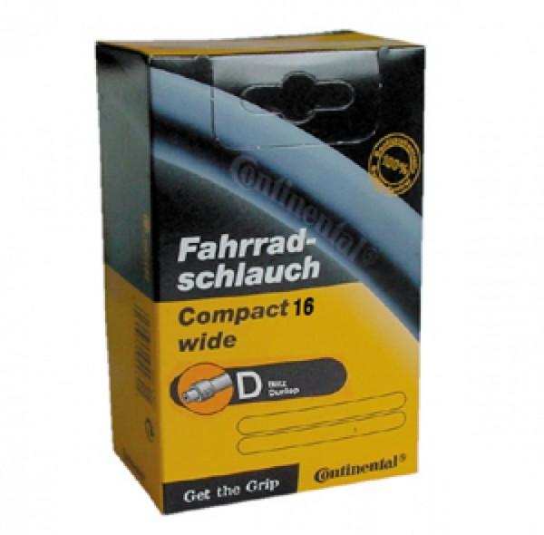 """Fahrradschlauch Conti COMPACT 16 DV 16x1.90 /2.125"""" 50/57-305"""