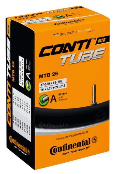 "Bike tire tube Conti MTB 26 SV60 26x1.75/2.50"" 47/62-559"