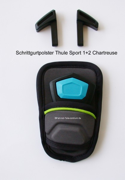 Thule Chariot Sport 1+2 Schrittgurtpolster chartreuse