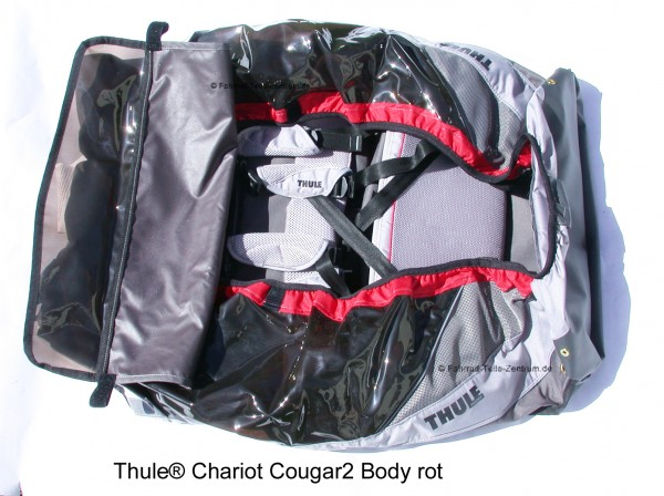 Thule Chariot Cougar 2 body red from 2009