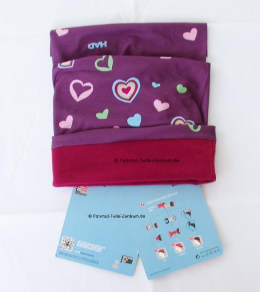 H.A.D® Kids multifunction fleece scarf Hearts