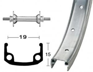 Alu front wheel with rigid axle 18x1.75 inch 355-19