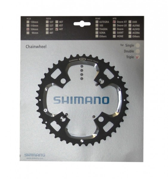 Shimano Deore XT chainring 4 holes 104mm 44 teeth FC-M770