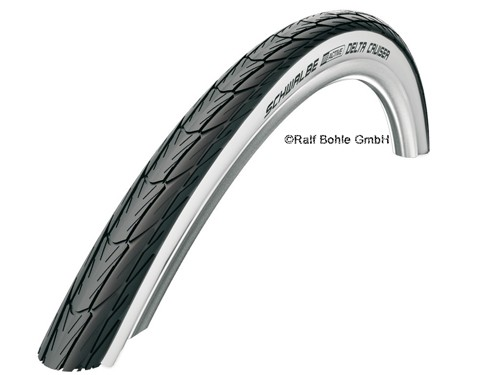 """Bicycle tire DELTA CRUISER HS392 24x1 3/8"""" 37-540 whitewall"""