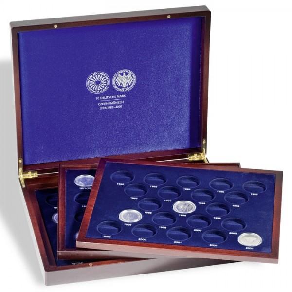 Münzkassette Leuchtturm Volterra Trio de Luxe für 10 DM Gedenkmünzen 1972 1987-2001