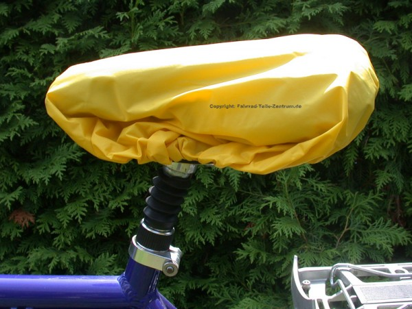 Rain cover for bicycle saddle