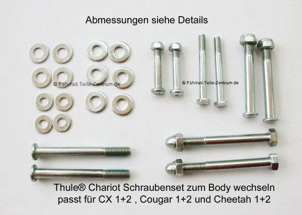 Thule Chariot Screw set for Body change