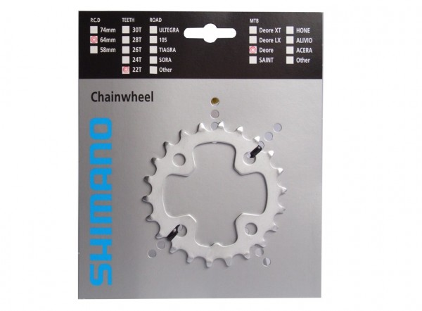 Shimano Deore chainring PCD 64mm 22 teeth