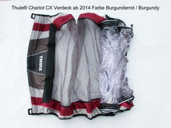 Thule Chariot Verdeck CX 2 burgunderrot ab 2014