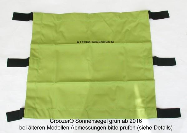 Croozer Kid 2 Sonnensegel grün